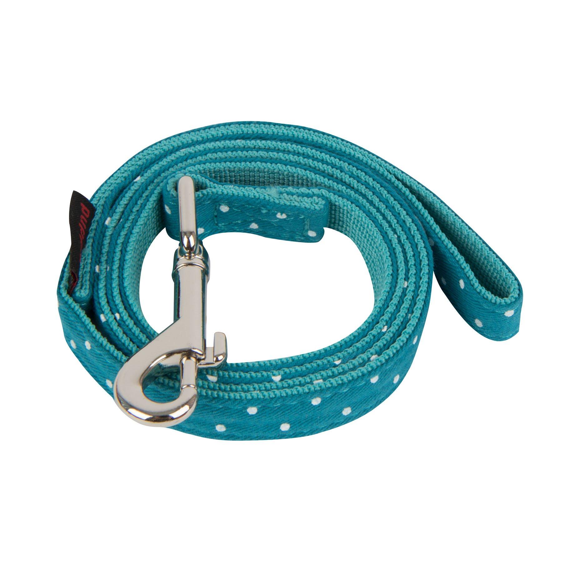 Puppia PARA-AL1529-TE-M Teal Dotty Lead II Pet-Leashes, Medium