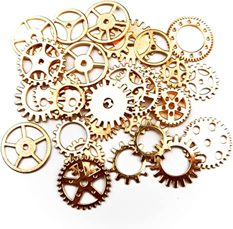 20 STEAMPUNK CLOCK//WATCH HANDS 10 OF EACH SIZE IN SILVER COLOUR 15mm and 25mm