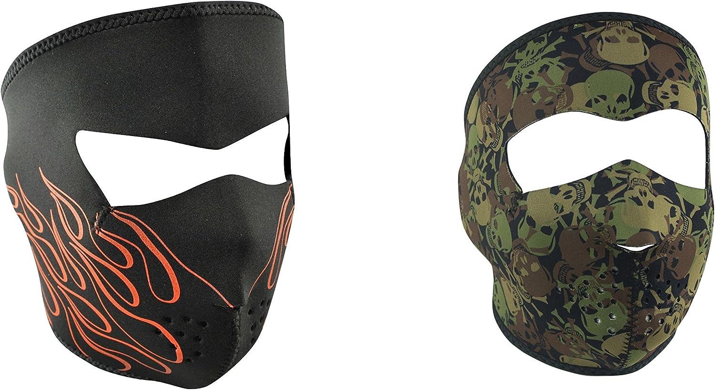 Zan Headgear Orange Flame Full Face Neoprene Face Mask