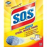 S.O.S-10002 , Steel Wool Soap Pads, 10 Ct