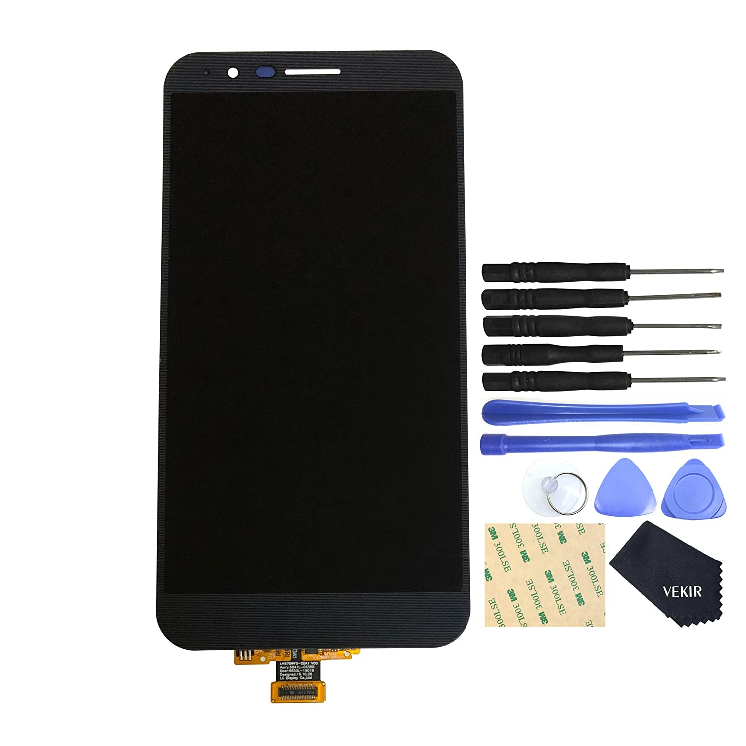 VEKIR Touch Display Digitizer Screen Replacement for LG Stylo 3 Plus(Black)