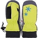 (フレミ) Flammi スキーグローブ キッズ ミトン 3M™ シンサレート™ 高機能中綿素材 防寒 撥水 手袋 男の子 女の子 3-8歳