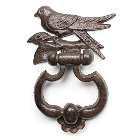 Beau Amazon.com : Abbott Collection Cast Iron Bird Door Knocker, Brown : Outdoor  Statues : Garden U0026 Outdoor