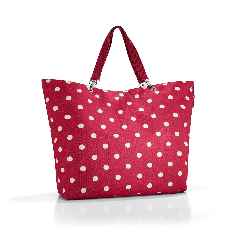 Reisenthel Living-Edition ZU3014 - Bolsa para la compra (tamaño XL, 68 x 45,5 x 20 cm), color rojo con lunares blancos: Amazon.es: Hogar