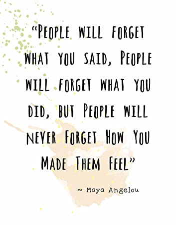Amazon.com: Wall Art Print ~ Maya Angelou Famous Quote: '.People