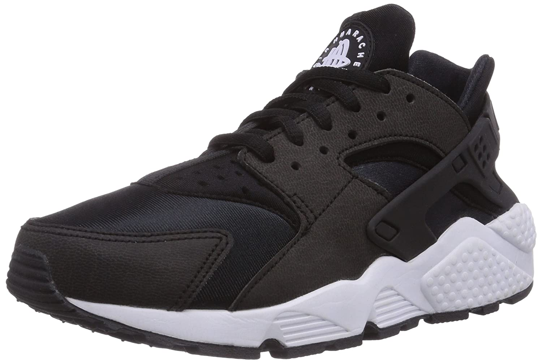 Nike Damen Air Huarache Run Laufschuhe  36.5 EU|Schwarz (Black/Black-white 006)
