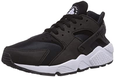 Nike Womens WMNS Air Huarache Run Shoes, Black/White 006, ...
