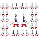 Lot de 50 porte-clé Tour Eiffel Pairs souvenir couleur drapeau français 4,5 x 2 cm cadeaux