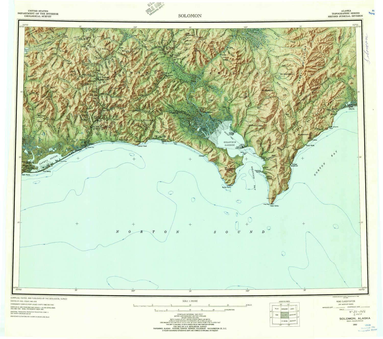 Amazon.com : YellowMaps Solomon AK topo map, 1:250000 Scale ...