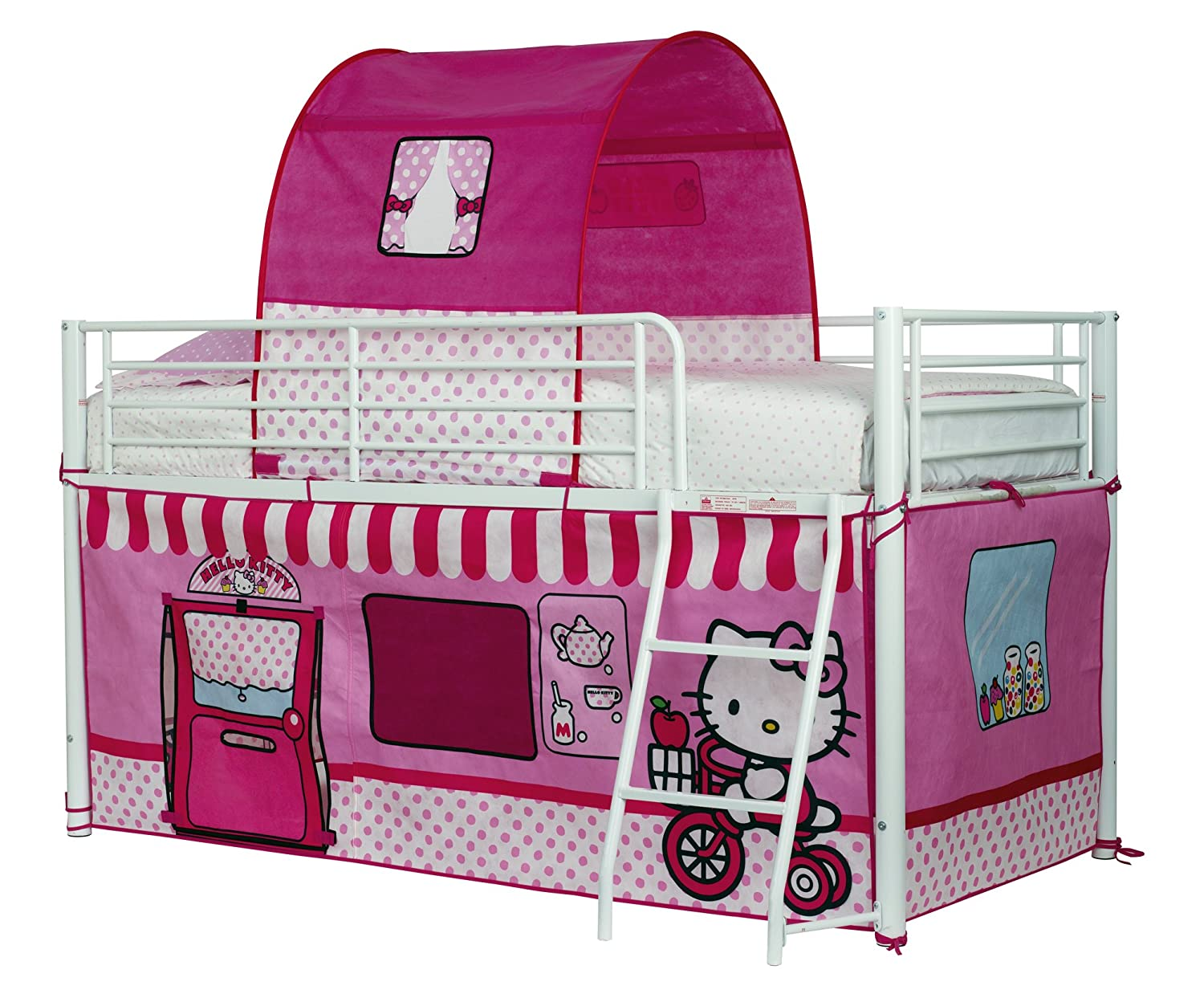 Hello Kitty ReadyRoom 1.9m Mid Sleeper Bed Tent Worlds Apart 490HEK01E