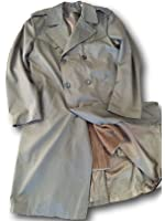 Italian Military Classic Trenchcoat,With All Season Liner, light Olive