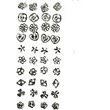Juego de 40 (20 pares) Pendientes en Plata de Ley 925 Mezcla de Diseño de Joyería De Kurtzy TM