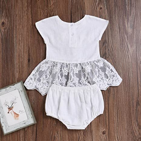3152e2197 Webla Toddler Infant Baby Girls Embroidery 3D Flower Lace Vest Tops+ ...