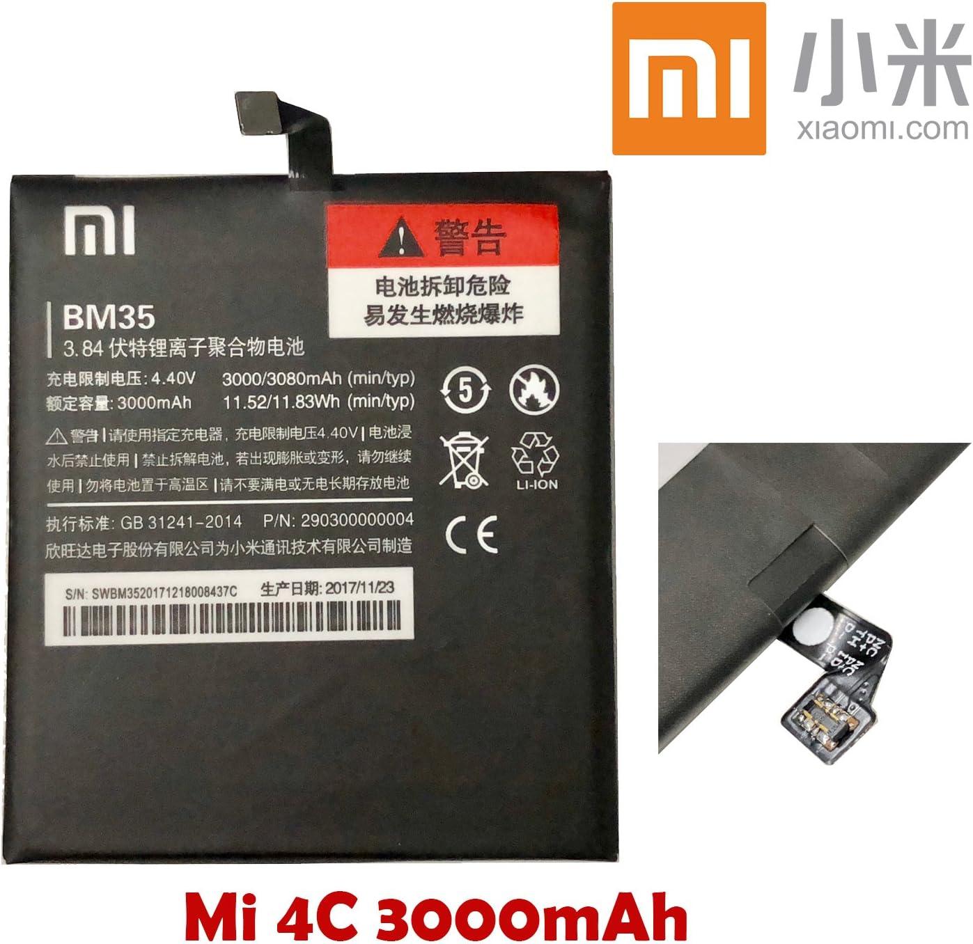 Batería Xiaomi BM35 BM 35 3000 mAh Original para Xiaomi Mi4 C Mi 4 ...