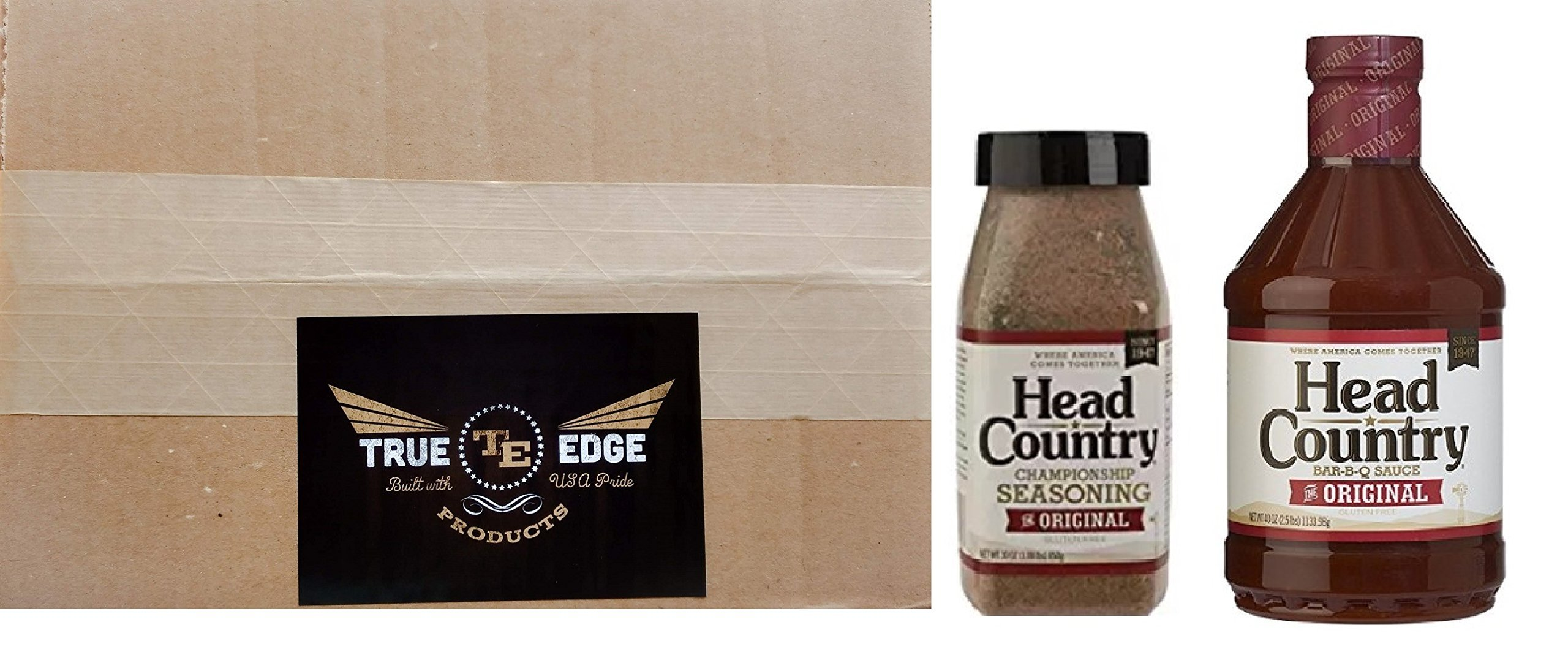 Head Country Bundle (2) includes 30 oz. Championship Seasoning and 40 oz. Original BBQ Sauce