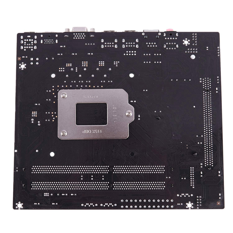 SODIAL H55 LGA 1156 Motherboard Socket LGA 1156 ATX Desktop Image USB2.0 SATA2.0 Dual Channel 16G DDR3 1600 for Intel