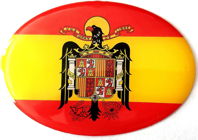 NEW TORO Pegatina de Resina Bandera España con Escudo Aguila España 65x45mm, 1 Uds: Amazon.es: Hogar