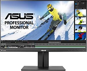"ASUS PB258Q 25"" WQHD 2560x1440 IPS DisplayPort HDMI DVI Eye Care Monitor,Black"