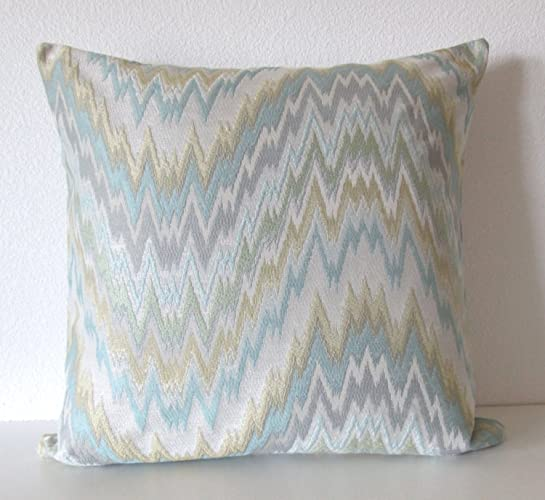 Amazon Ethan Allen Milo Seaglass Flame Stitch Zig Zag Light Awesome Ethan Allen Decorative Pillows