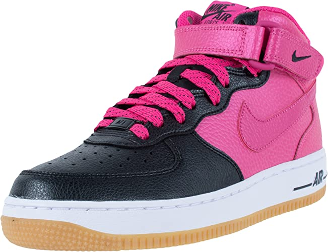 Nike Air Force 1 Mid (GS), Scarpe da Basket Bambina, Nero