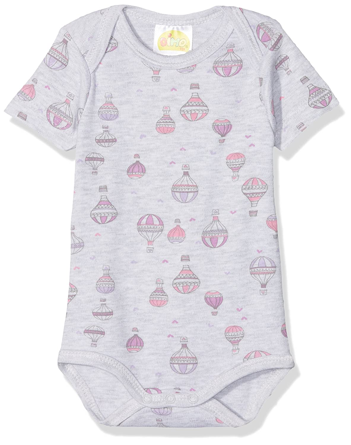 DIMO-TEX Baby Girls' Kurzarmbody Flying High Bodysuit
