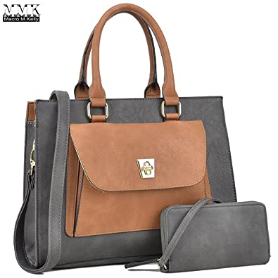 adfe89f060c MMK Collection Medium Size Fall Winter Multi-Functional Women Handbag  Pretty Satchel with Free Matching Wallet Set(6715)~Gift for All  Lady~Fashion Designer ...