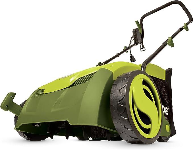 Sun Joe Electric Scarifier + Lawn Dethatcher - Best Sweeper for Small Yard