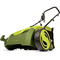 "Sun Joe AJ801E 12 Amp 13"" Electric Scarifier Plus Lawn Dethatcher with Collection Bag"