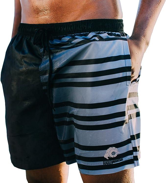 Loveternal Badehose f/ür Herren Badeshorts Sporthose Kurze Schnelltrocknend Schwimmhose Elastisch Boardshorts mit Verstellbarem Tunnelzug und Taschen Strand Boardshorts M-XL