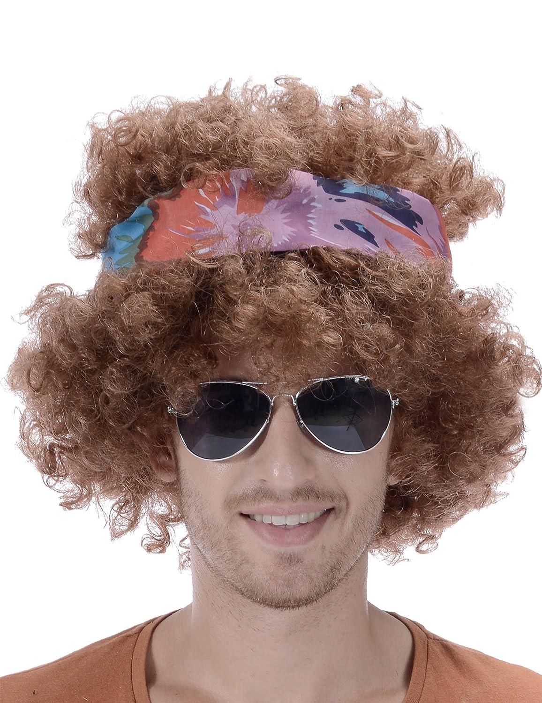 Peluca afro hippie hombre 130 g - Única: Amazon.es: Juguetes ...