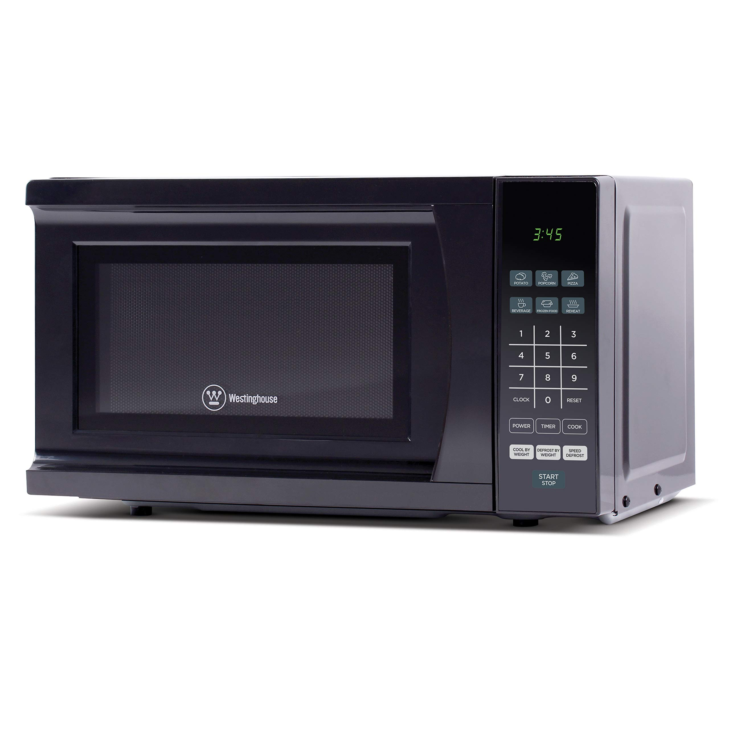 Westinghouse 700 Watt Counter Top Microwave Oven, 0.7 Cubic Feet, Black, WMM7B