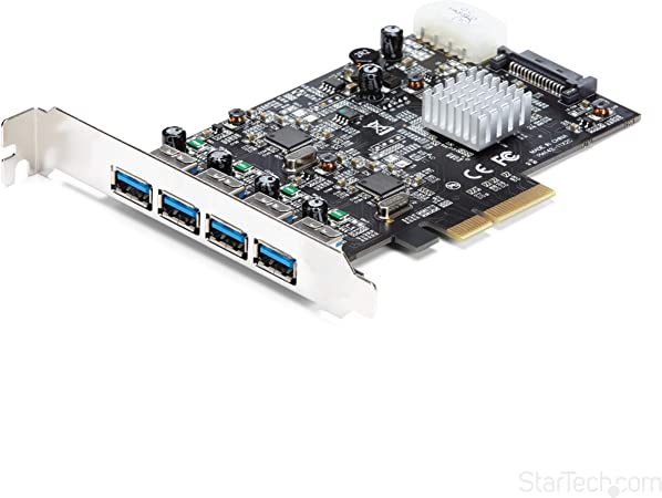 StarTech.com 4 Port USB 3.1 PCI-e Card - 10Gbps - 4X USB w/Two Dedicated Channels - PCI Express Expansion Card/Adapter (PEXUSB314A2V)