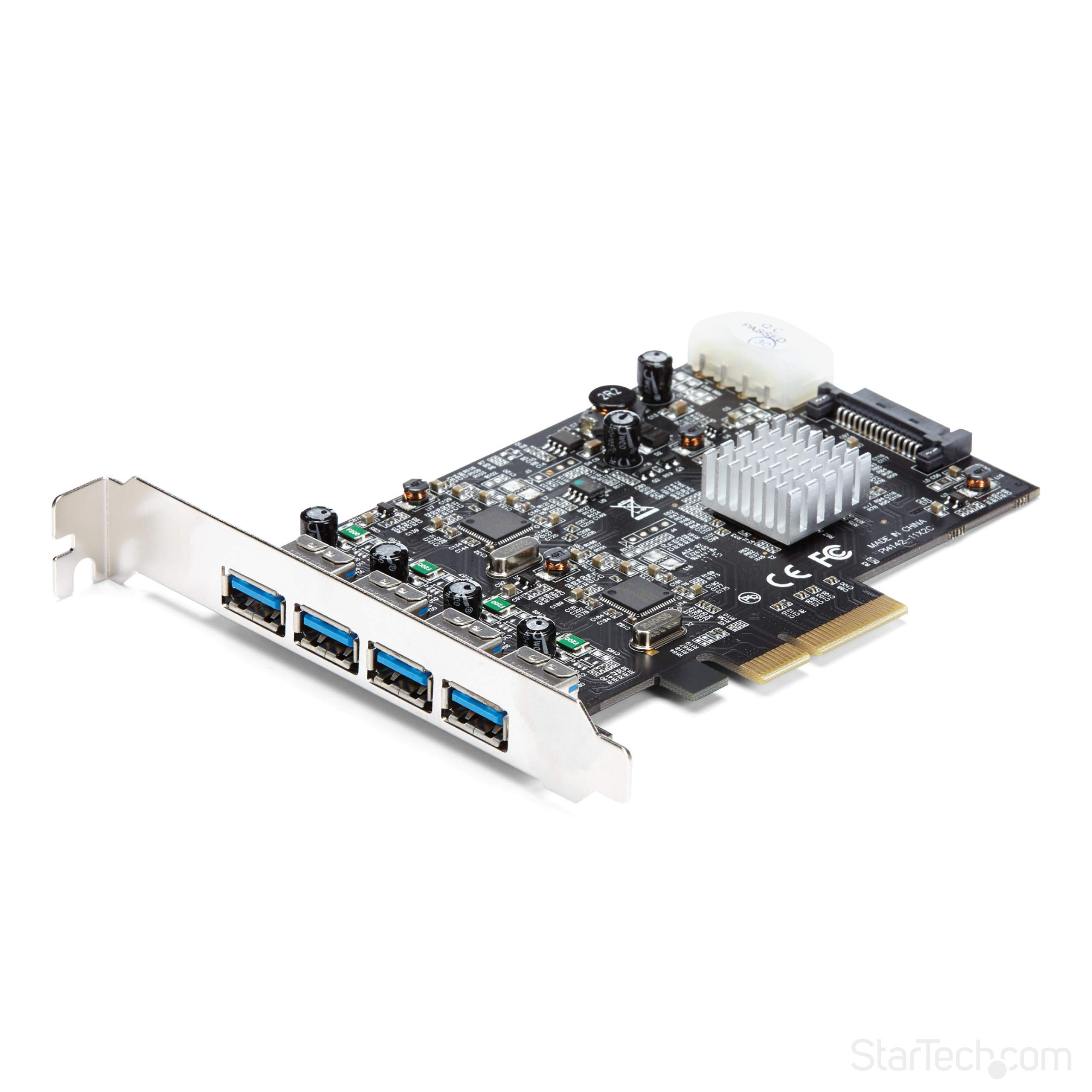 StarTech.com 4 Port USB 3.1 PCI-e Card - 10Gbps - 4X USB w/Two Dedicated Channels - PCI Express Expansion Card/Adapter (PEXUSB314A2V) by StarTech