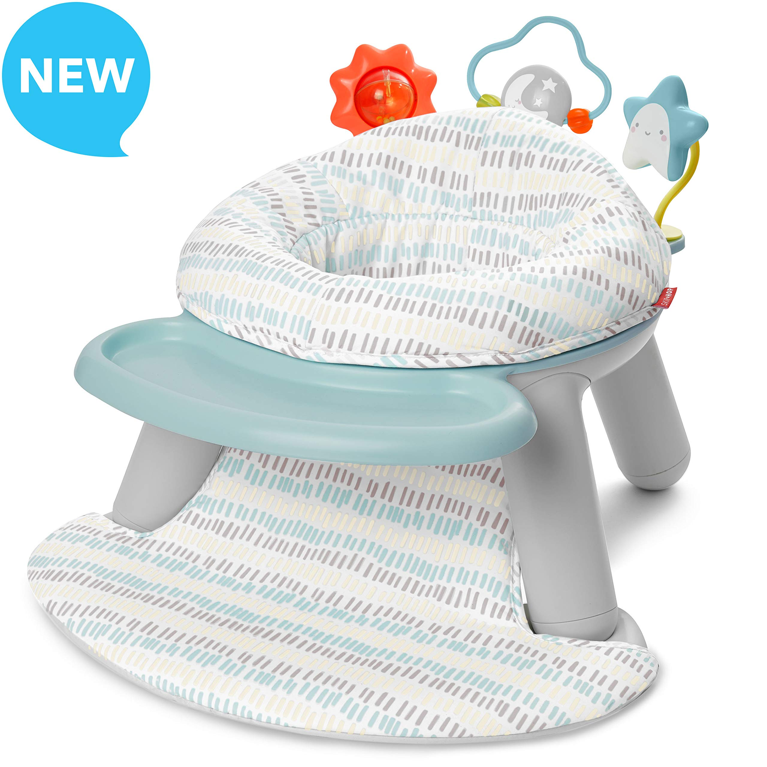 Skip Hop Silver Lining Cloud Baby Chair: 2-in-1 Sit-up Floor Seat & Infant Activity Seat by Skip Hop