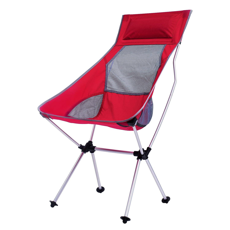 軽量折りたたみバックパッキングキャンプ椅子 – 2017更新され超軽量ポータブル折りたたみ式アウトドアキャンプ椅子ハイキングMotorcycling釣り車旅行ピクニックbeach-lounging Touring  Full Red-L B072MRPHQ2
