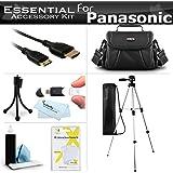 "Essential Accessory Kit For Panasonic HC-X920, HC-V720 HC-V520 HC-V210 HC-V110, HC-X900M, HC-X900, HC-X800, HC-V750K, HC-V550K, HC-V250K, HC-V130K, HC-W850K Camcorder Includes 50"" Tripod + Case + More"