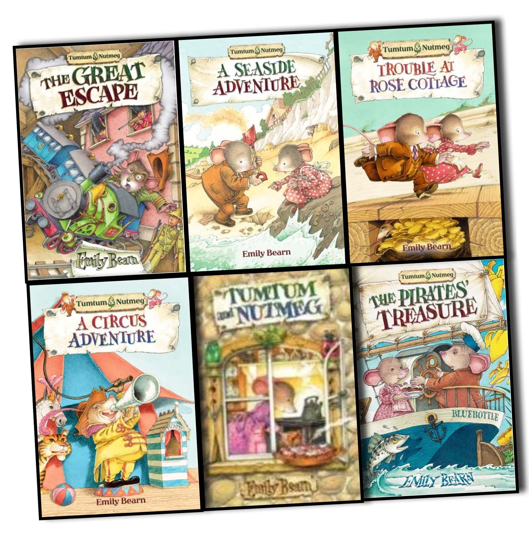 Emily Bearn Tumtum and Nutmeg 6 Books Collection Pack Set RRP: £35.94  (Trouble at Rose Cottage, A Circus Adventure, A Seaside Adventure, The  Pirates' ...