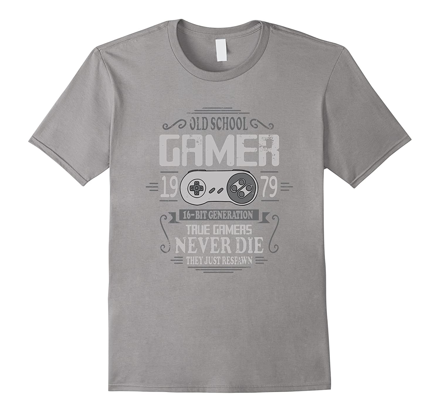 38th Birthday Old School Gamer Never Die T-Shirt-PL