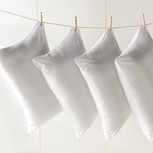 Aaf Textiles Marca Antialérgico De lujo Calidad De Hotel Pluma De Pato Cojines 100% Cáscara De Algodón (2u.) Emoji cojín, Emoji almohada - Blanco, ...