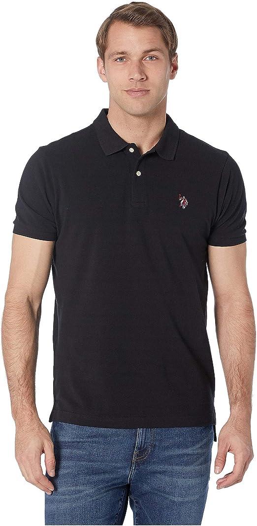 U.S. Polo Assn. Mens Multi Logo Polo Black Large: Amazon.es: Ropa ...