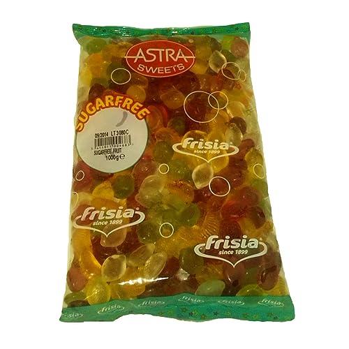 Sugar Free Jellies Gums Sweets - Bulk Buy Bag 1kg (Fruit Salad)