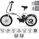 NILOX X1,velo electrique pliable, Vélo électrique pliant, 20 '' pouces E-bike, Vitesse maximale 25 km/h, Blanc