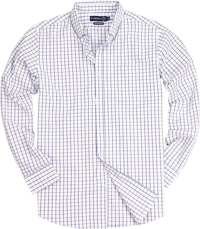 Amazon.com: Camisa de manga larga con botones a cuadros para ...