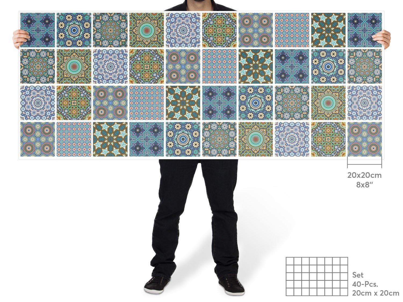 20 pi/èces Sticker carrelage de Ciment Autocollant I Design 3D Marbre Cubes 10x10 cm creatisto Carrelage adhesif Salle de Bain et Cuisine mosaique carrelage I Feuille Amovible d/écorative