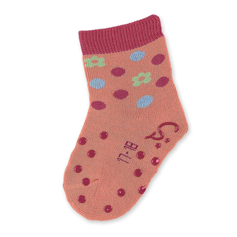 Sterntaler Baby Krabbelsöckchen, ABS-Socken, Vollplüsch, Blümchen, Mädchen Vollplüsch Blümchen Mädchen