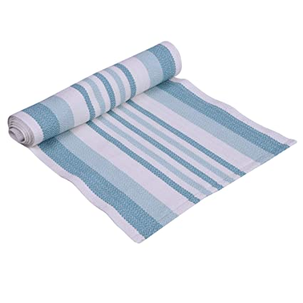 Snh Homes Cotton Natural & Multi Stripe Table & Bed Runner (Pack of 1) SIZE-16X72
