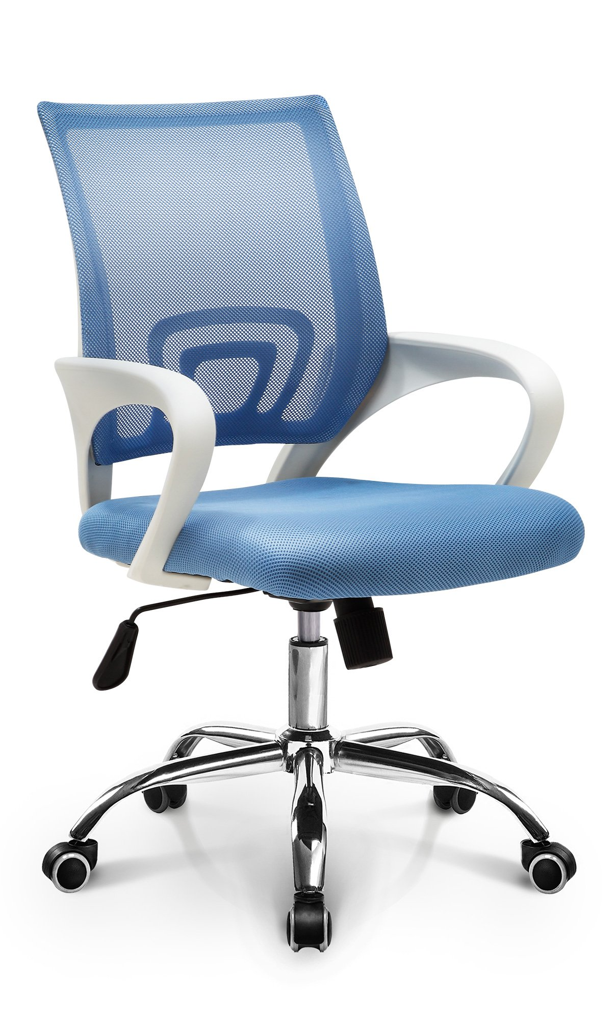 Neo Chair Fashionable Mid-Back Mesh Ergonomic Swivel Desk Home Office Computer Chair with Lumbar Support, Blue