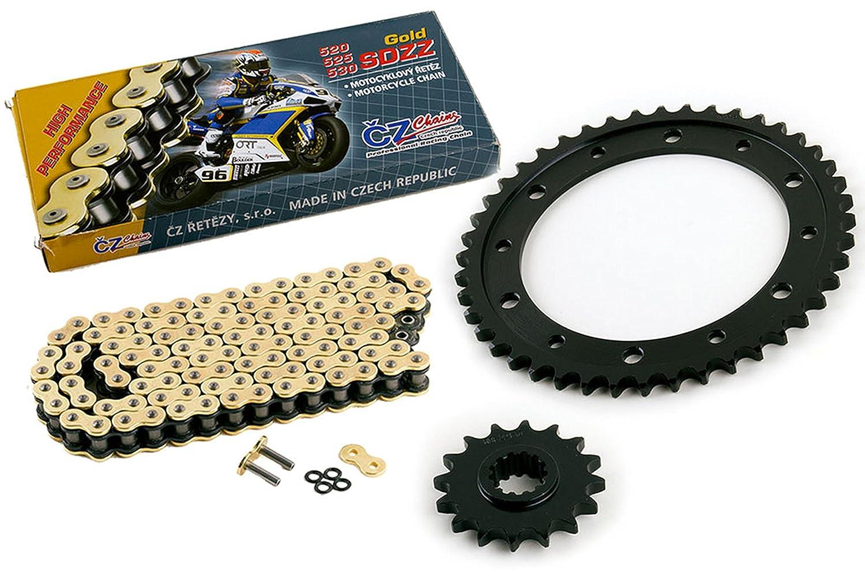 2012 2013 2014 2015 Fits Honda CB1000R CZ SDZZ Gold X Ring Chain /& Sprocket 16//44 120