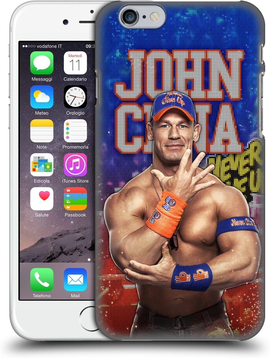 Head Case Designs Officially Licensed WWE LED Image 2017 John Cena Hard Back Case Compatible with Apple iPhone 6 / iPhone 6s