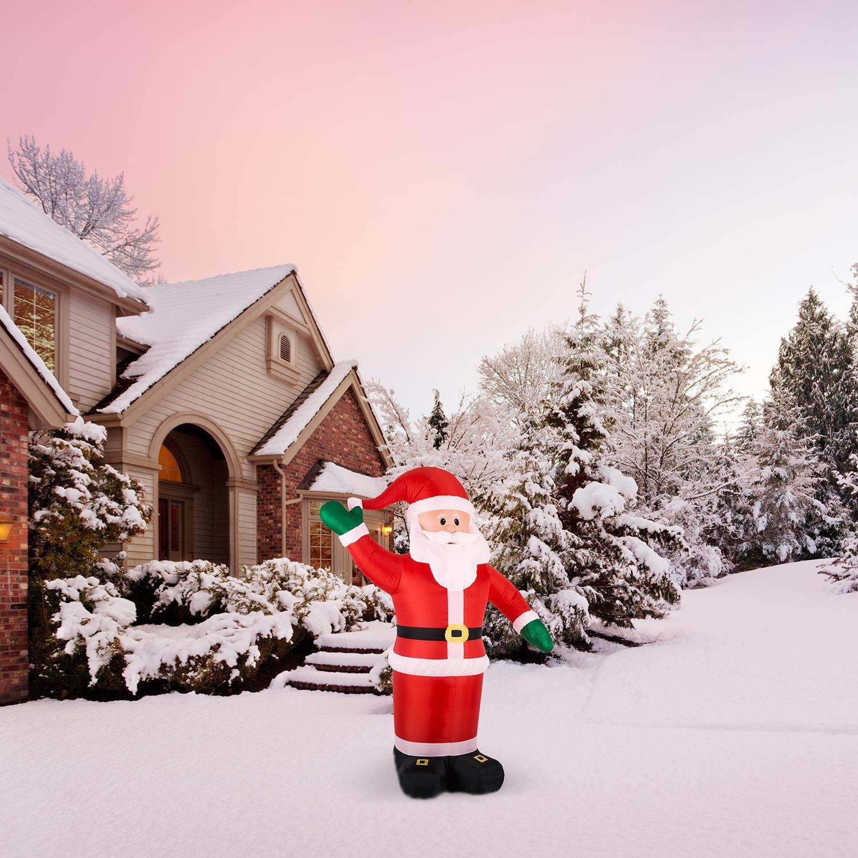 84ae3967b424d oneConcept Mr. Klaus • Santa Claus inflable • decoración navideña •  iluminación navideña • figura enorme • 240 cm • iluminación LED • soplador  silencioso ...